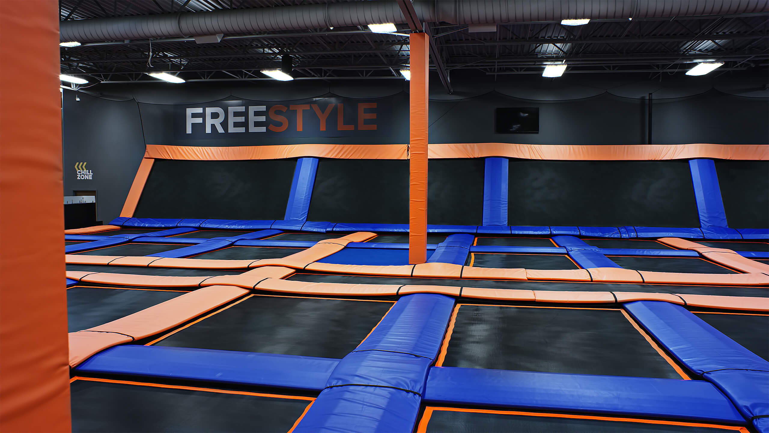 empty freestyle jump court